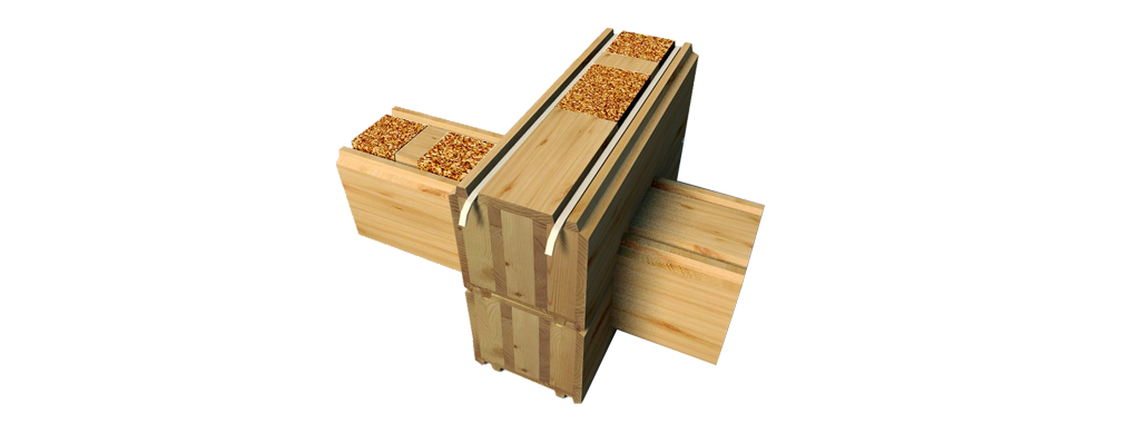 The essence of the product: glued cross-beam «CrossBrus»